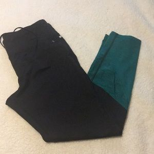 Danskin Now Pants - Black and green workout leggings!!